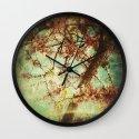 Vintage Abstract Blossom Wall Clock