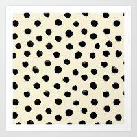 Vintage Watercolor Dots … Art Print