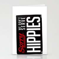 No-Hippies  Stationery Cards