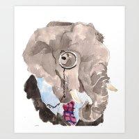 Harumph elephant Art Print