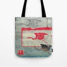 Blue Heron Collage Tote Bag