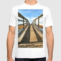 Cross The Bridge Mens Fitted Tee White SMALL