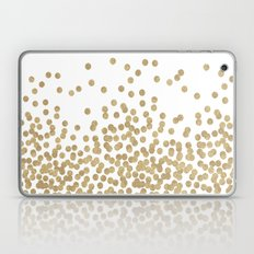 Gold Glitter Dots In Sca… Laptop & iPad Skin