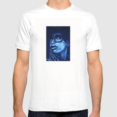 badu?!-blue White SMALL Mens Fitted Tee
