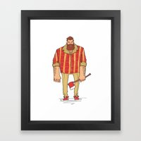 The Woodchop Framed Art Print