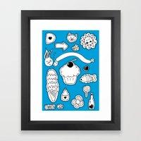 Sticker World Framed Art Print