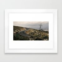 Al fondo Cabo de Gata. Framed Art Print