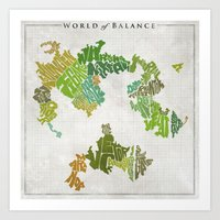 Final Fantasy VI - World… Art Print