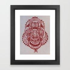 Maroon Mask Framed Art Print