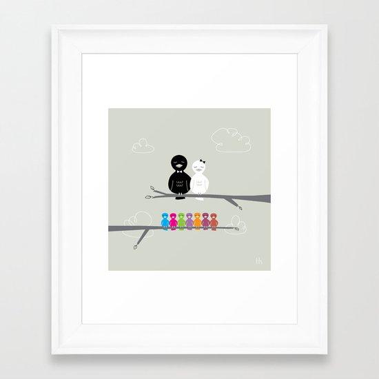 The Happy Family Framed Art Print