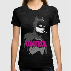 Control Black & White Edition Womens Fitted Tee Tri-Black SMALL