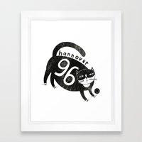 96 Katze Framed Art Print