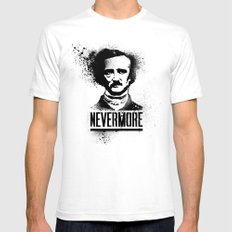 Nevermore! SMALL Mens Fitted Tee White