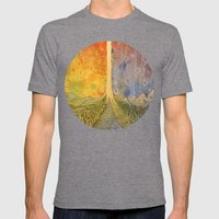 Eden Mens Fitted Tee Tri-Grey SMALL