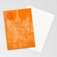Paris! Orange Sun Stationery Cards
