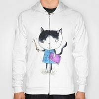 Creative Mono Cat  Hoody