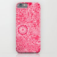 iPhone Cases featuring Grand floral red by Vania Pietronigro