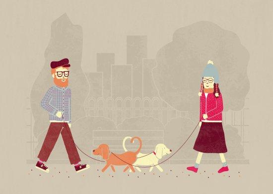 Dog People Art Print