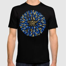 Snapchat – Navy & Gold Mens Fitted Tee Black SMALL