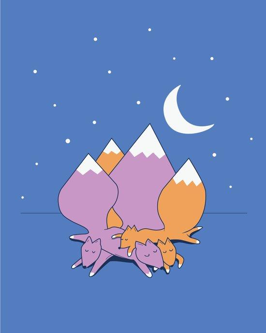 Let sleeping foxes lie Art Print