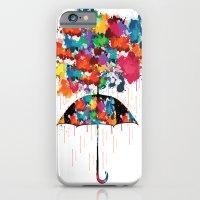 Rainbow rainy day iPhone 6 Slim Case
