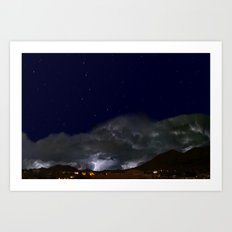 Starry Monsoon Night Art Print