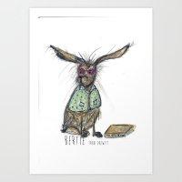 Bertie Art Print