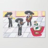 Dia de los Muertos; Celebración Canvas Print