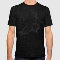 Splatter Crow Mens Fitted Tee Tri-Black SMALL
