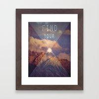 FIND YOUR SELF Framed Art Print