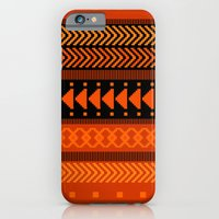 iPhone & iPod Case featuring Under the Volcano - tribal geometrics by penina