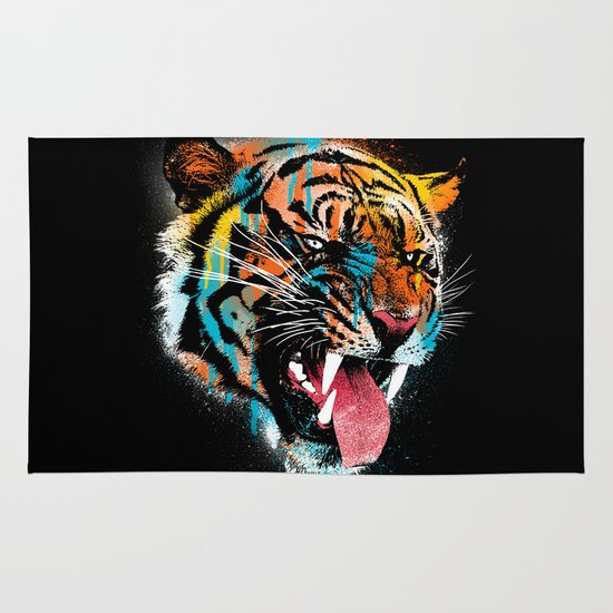 FEROCIOUS TIGER Area & Throw Rug