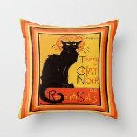 Tournee Du Chat Noir - A… Throw Pillow