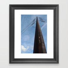 Abandoned Village Electrical Pole Framed Art Print