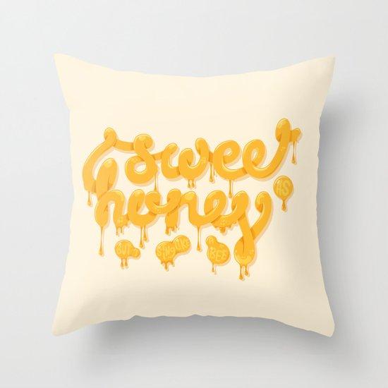Sweet as honey Throw Pillow