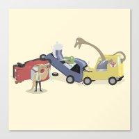 BandNames : Dinosaur Pile-Up Canvas Print