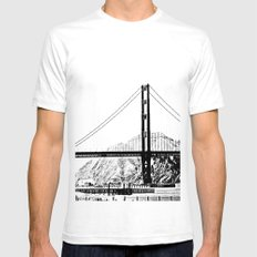 Golden Gate Bridge In Bl… Mens Fitted Tee White SMALL