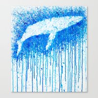 Solitude Whale Canvas Print