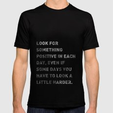 Look For Something Positive Mens Fitted Tee Black SMALL