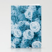 Bouquet Ver.bluegreen Stationery Cards