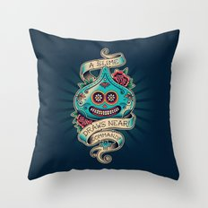 Slime de los Muertos Throw Pillow
