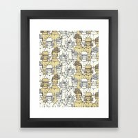 Scarves And Goggles Framed Art Print