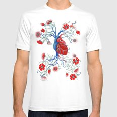 Romantic Anatomy Mens Fitted Tee White SMALL