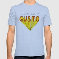 an endless supply of gusto Mens Fitted Tee Athletic Blue SMALL