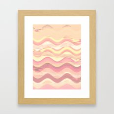 Apricot Waves Framed Art Print