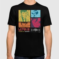 Lupin III Jazz Record Mens Fitted Tee Black SMALL