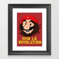 Viva La Revolution Framed Art Print