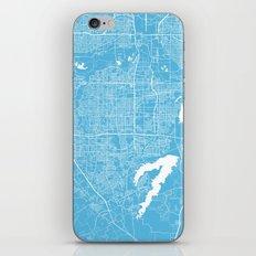 Arlington Map Blue iPhone & iPod Skin