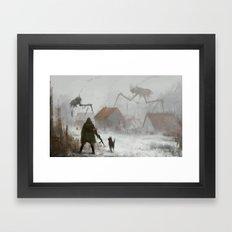 Big Spider On The Roof Framed Art Print