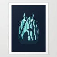 Art Print featuring My Neighbor Totoro by filiskun